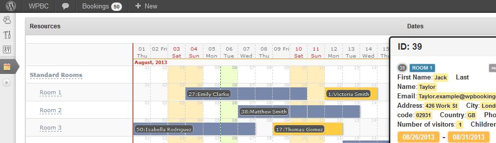 Booking Calendar Business Medium